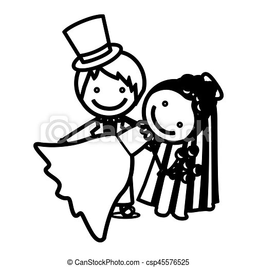 croquis mariage silhouette couple ic ne croquis rh canstockphoto fr clipart mariage coeur clipart mariage champetre gratuit