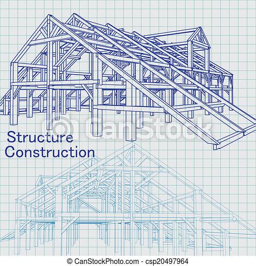 croquis mise point, architecte - csp20497964
