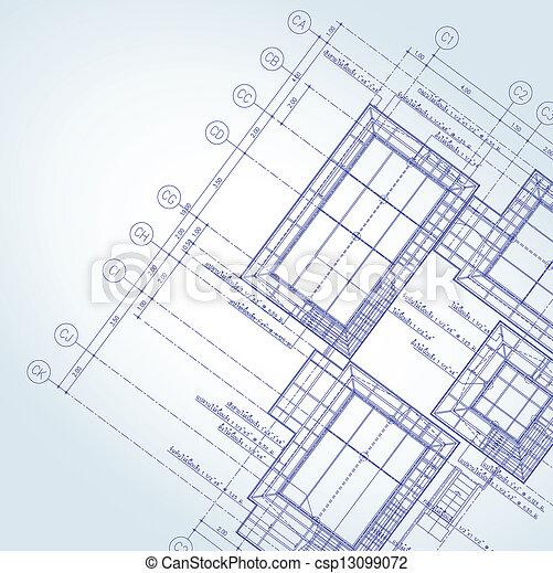 croquis mise point, architecte - csp13099072