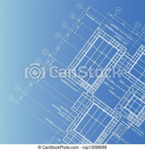 croquis mise point, architecte - csp13099088