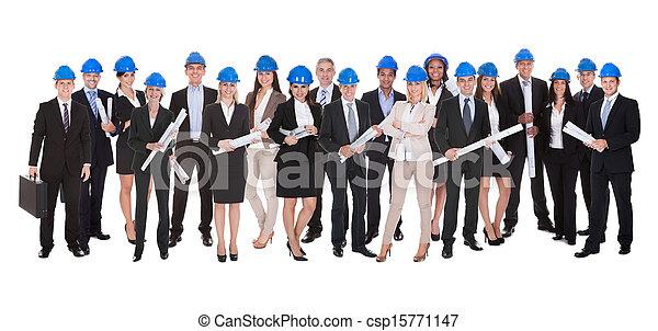 croquis mise point, groupe, architectes - csp15771147