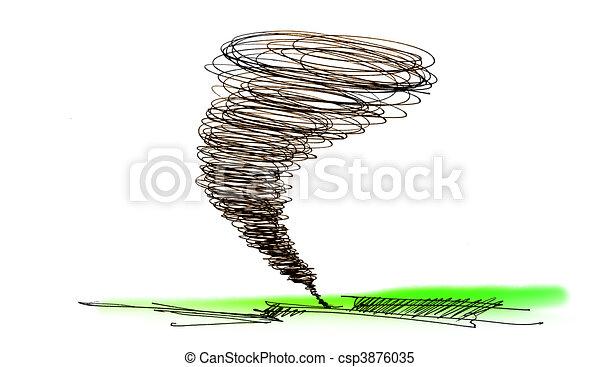 croquis, ouragan - csp3876035