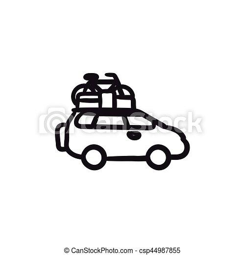 Croquis v lo voiture toit icon mont site web croquis v lo app infographic voiture - Croquis voiture ...