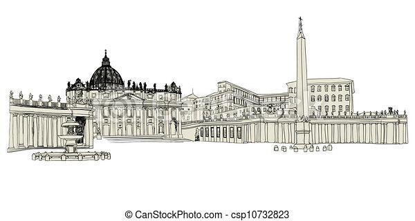 croquis, vatican - csp10732823