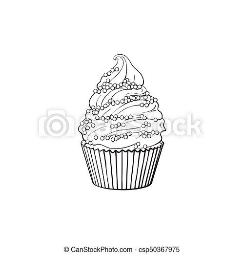Croquis Vecteur Petit Gâteau