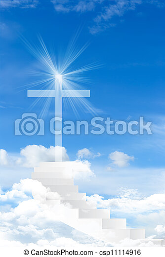 Cross against the sky - csp11114916