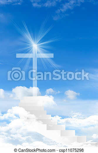 Cross against the sky - csp11075298