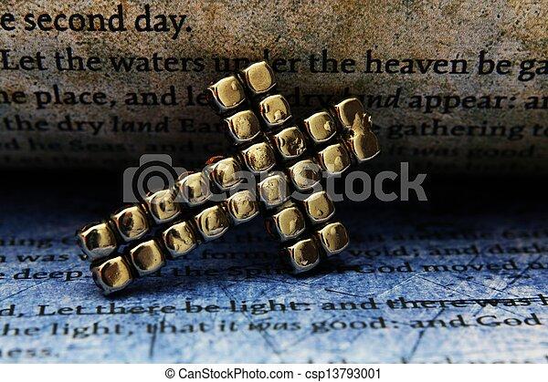 Cross and bible - csp13793001