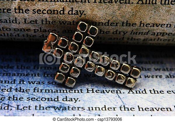 Cross and bible - csp13793006