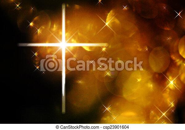 Cross and bokeh - csp23901604