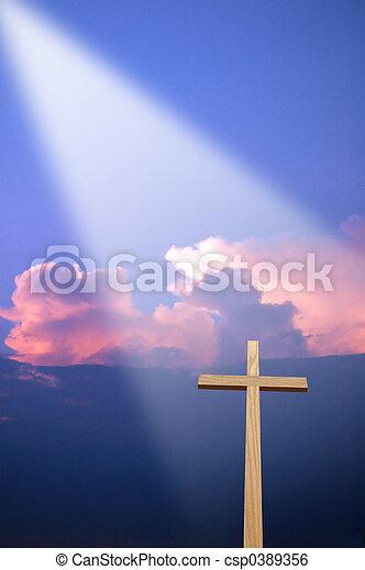 Cross and Light - csp0389356
