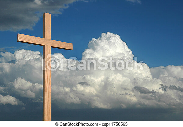 Cross and Sky - csp11750565