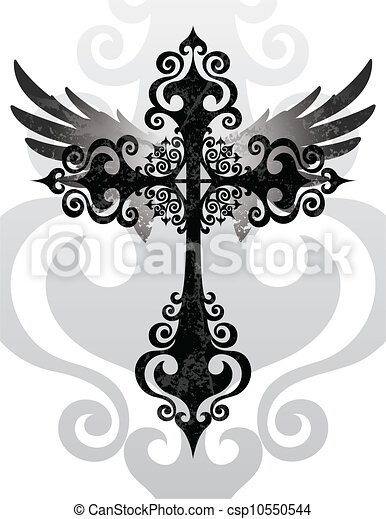 Cross and Wings - csp10550544