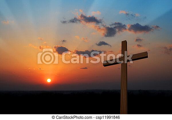 Cross at Sunset - csp11991846