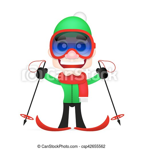 cross country skiing - csp42655562