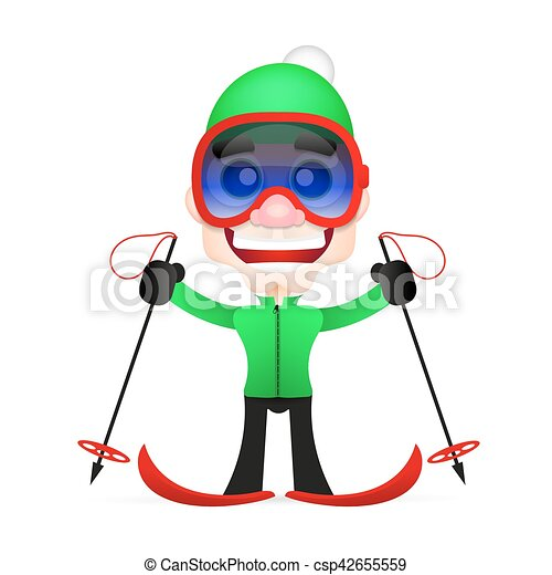 cross country skiing - csp42655559