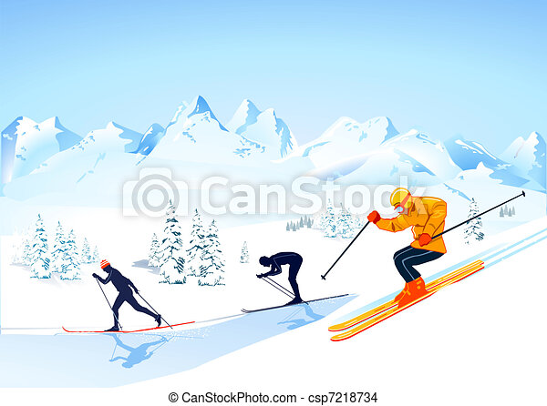 cross country skiing - csp7218734
