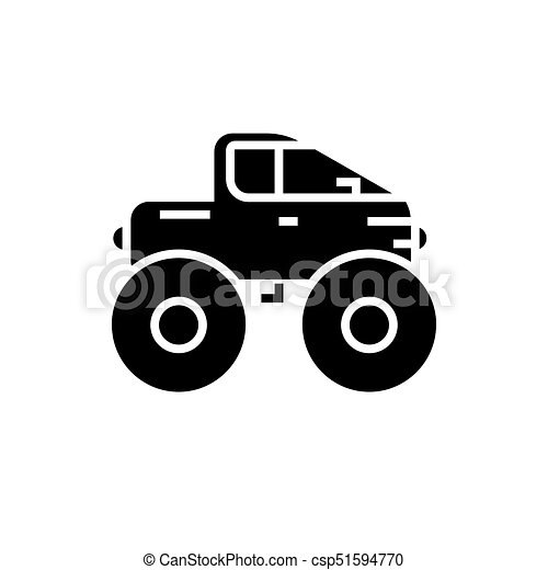 cross country vehicle jeep icon vector illustration black sign