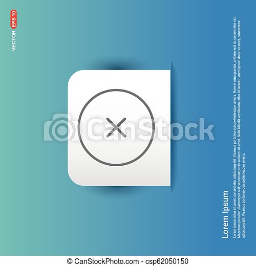 Cross Icon - Blue Sticker button - csp62050150