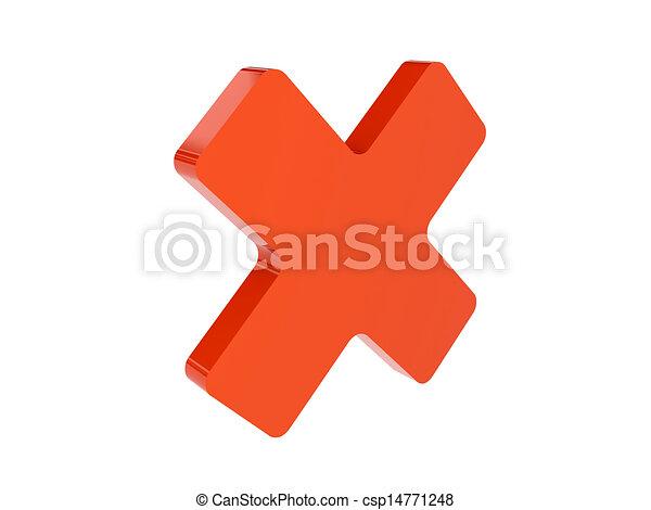 Cross icon - csp14771248