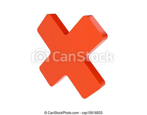 Cross icon - csp15616833