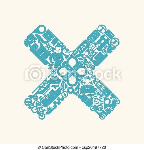 cross icon - csp26497720