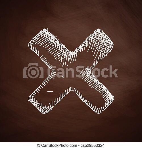 cross icon - csp29553324