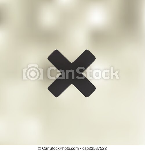 cross icon on blurred background - csp23537522