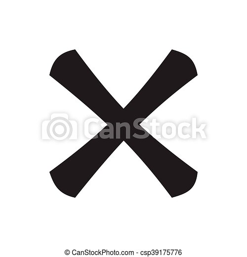 Cross icon, simple style - csp39175776