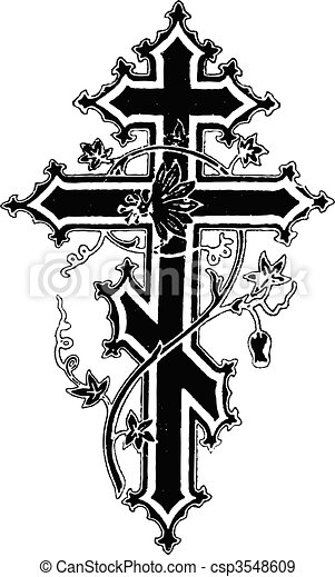 cross illustration - csp3548609