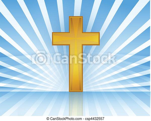 Cross In Heaven / Vector - csp4432557