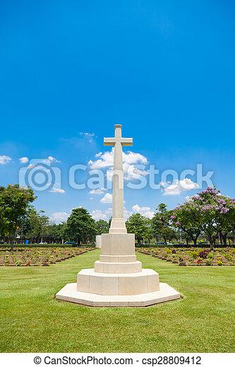 cross in the cemetery - csp28809412