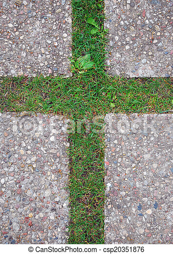 cross in the grass - csp20351876