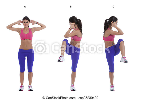 cross knees to elbows stepstep instructions for abs