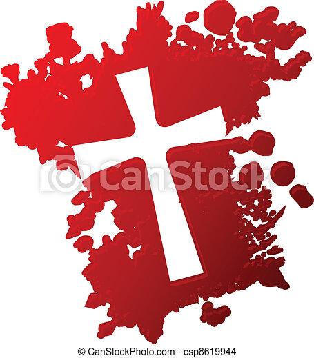 Cross of blood - csp8619944