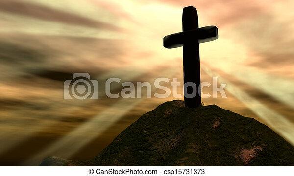 Cross on Hill - csp15731373