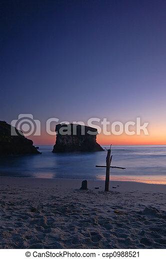 cross on the beach - csp0988521