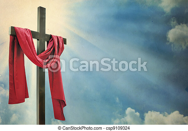 cross on white background  - csp9109324