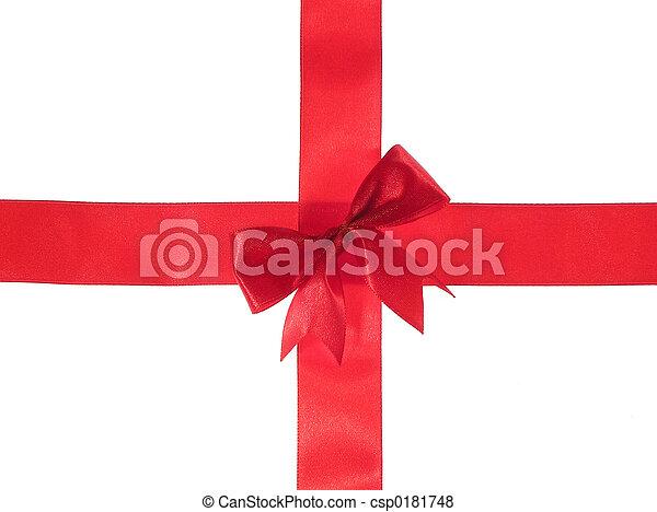Cross red ribbon - csp0181748
