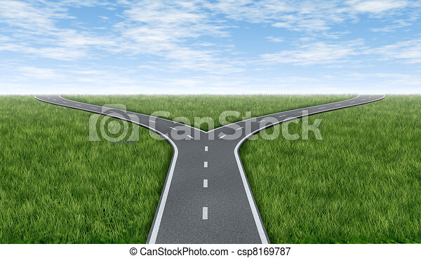 Cross roads horizon - csp8169787