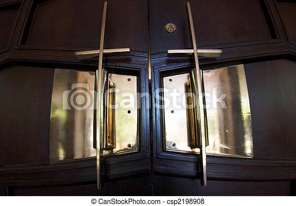 Cross Sanctuary Doors - csp2198908 & Cross sanctuary doors. Cross door handles to a church... pictures ...