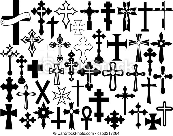 Cross stock photo images 548522 cross royalty free pictures and cross set isolated on white voltagebd Image collections