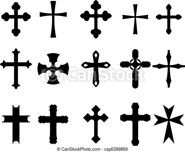 Cross symbols - csp6399869