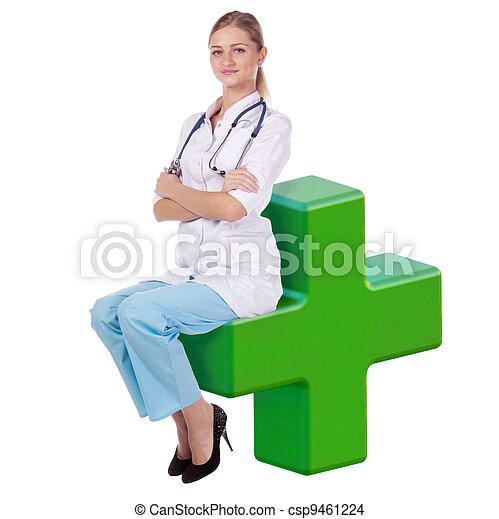 Doctora. Siéntate en la cruz. - csp9461224