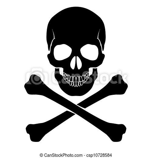 Crossbones and skull - csp10728584