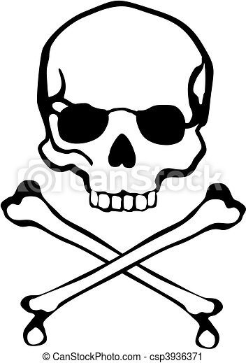 Crossbones Skull Classic Cross Bones And In Vector Format