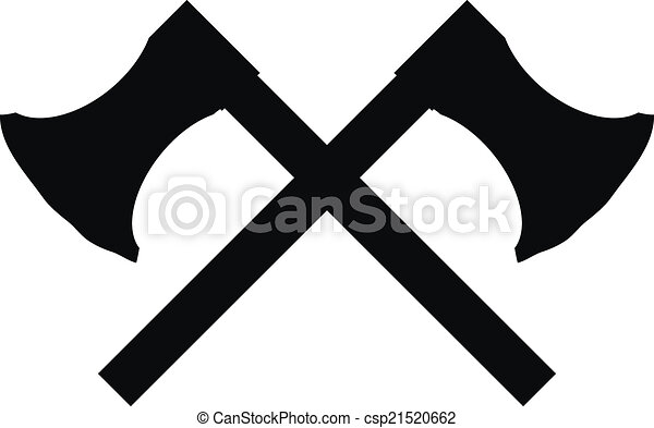 crossed axes icon on white background vector illustration clip art rh canstockphoto com Crossed Axes Clip Art Viking Axe