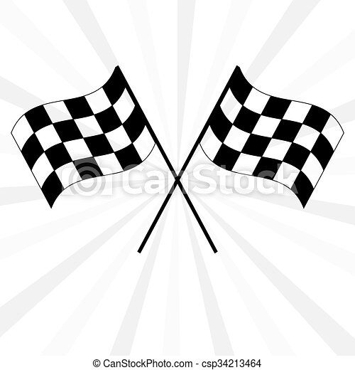 crossed black and white checkered flags logo waving in the clip rh canstockphoto com  checkered flag car logo