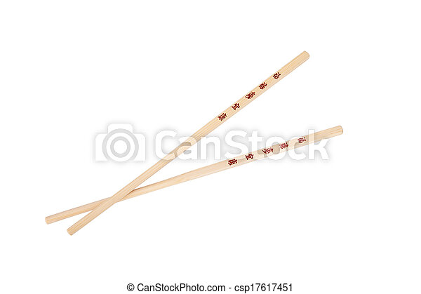 Crossed Chopsticks With The Chinesejapanese Symbols Isolated On White