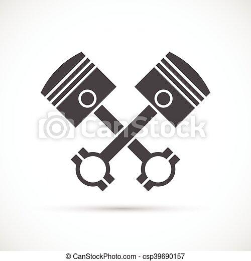 Crossed engine pistons icon - csp39690157